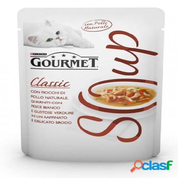 Gourmet soup fiocchi di pollo con pesce bianco gr 40