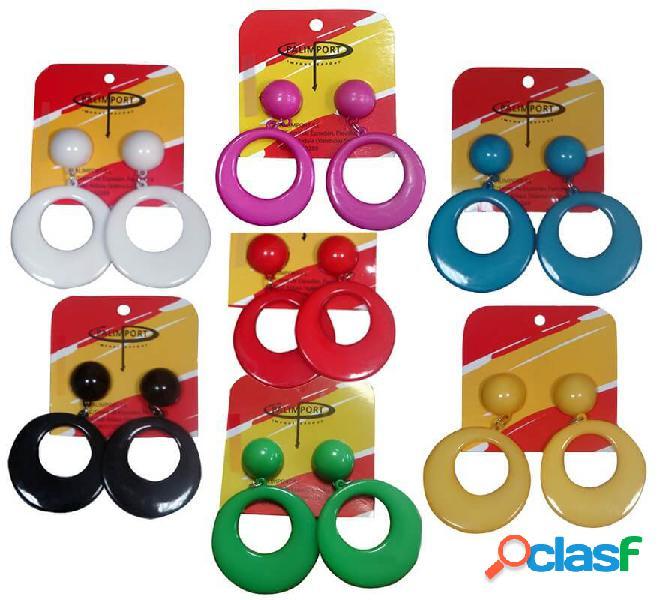 Grandi orecchini flamenco in vari colori