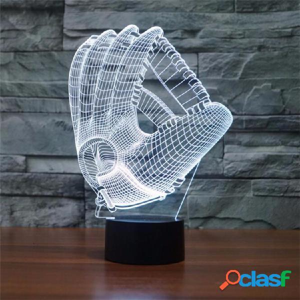 Guanti da baseball 3D Night Light 7 Cambia colore LED