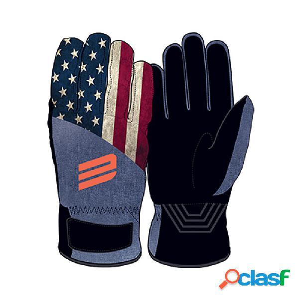 Guanti sci Energiapura Flag (Colore: America-nero, Taglia: