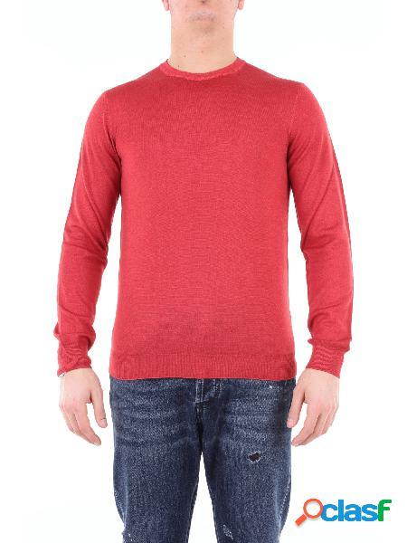 HERITAGE heritage maglia girocollo di colore rosso con