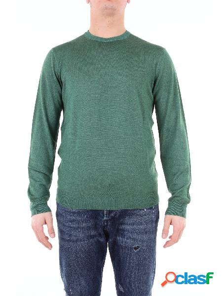 HERITAGE heritage maglia girocollo di colore verde con