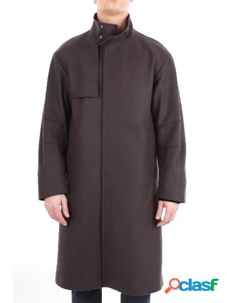 HEVÒ Hevò cappotto lungo tinta unita Cappotti Lunghi Uomo