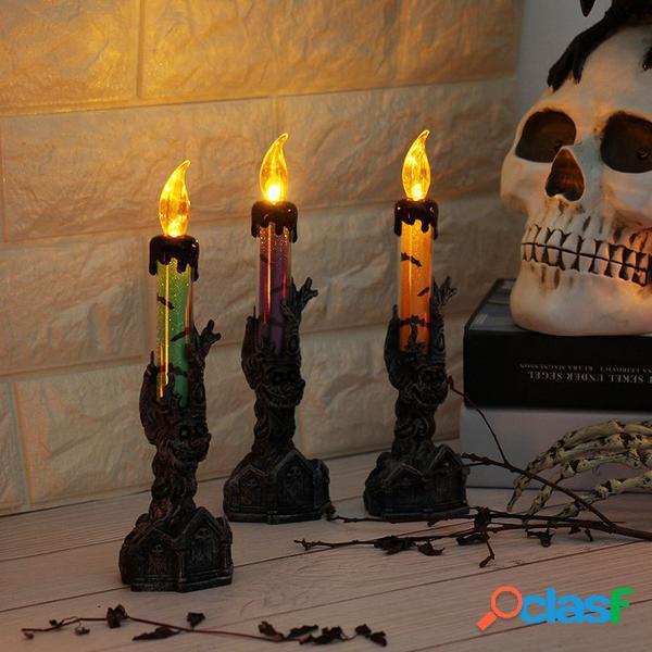 Halloween Skull Skeletonal Hand Stand LED Candle Light