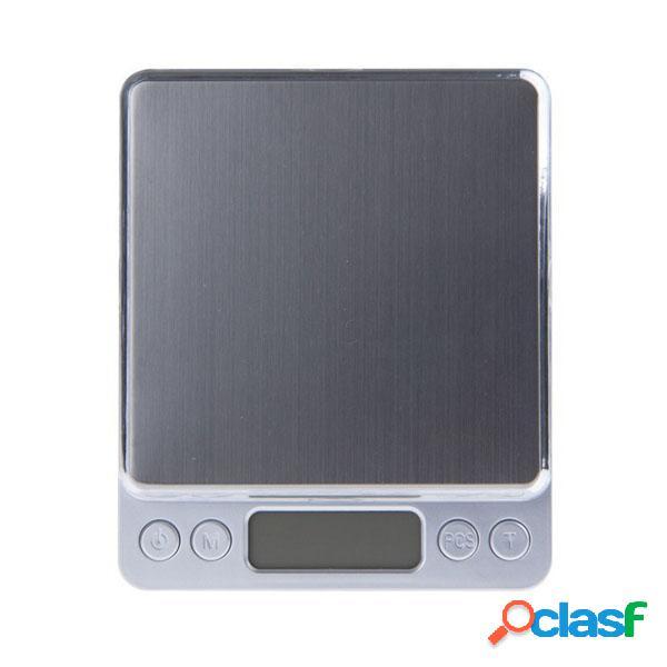 Honana 500g / 0.01g Scala di peso elettronica di scala Mini