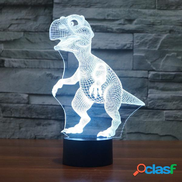 Illusion 3D Dinosaur LED Night Light 7 Cambia colore Touch