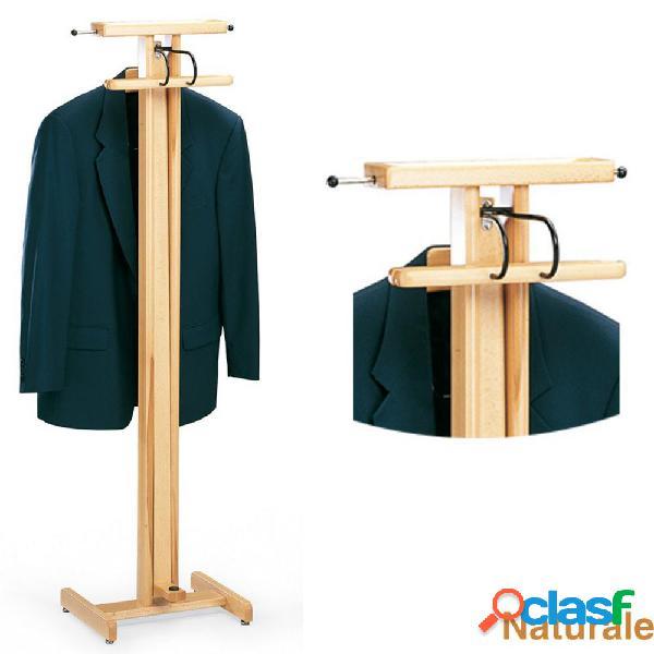 Indossatore appendiabiti richiudibile in legno massiccio