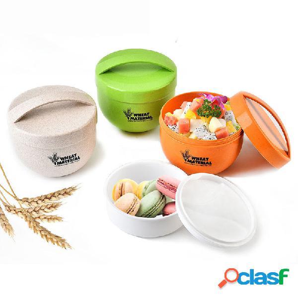 KCASA KC-BCH18 800mL Round Wheat Fiber Lunch Box Caso