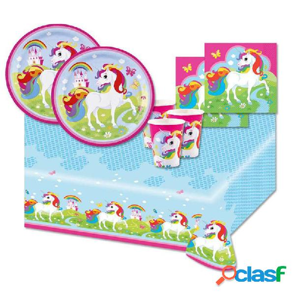 KIT N.3 RAINBOW UNICORN - ACCESSORI PER LA TAVOLA