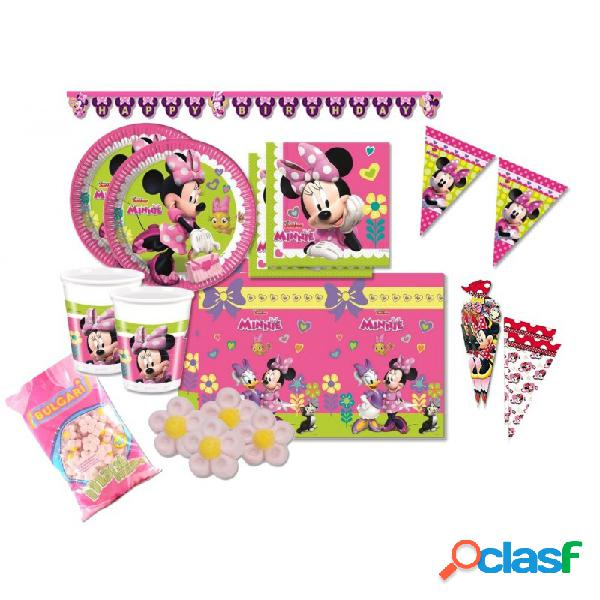 KIT N 51 - COORDINATO COMPLEANNO MINNIE MOUSE TOPOLINA