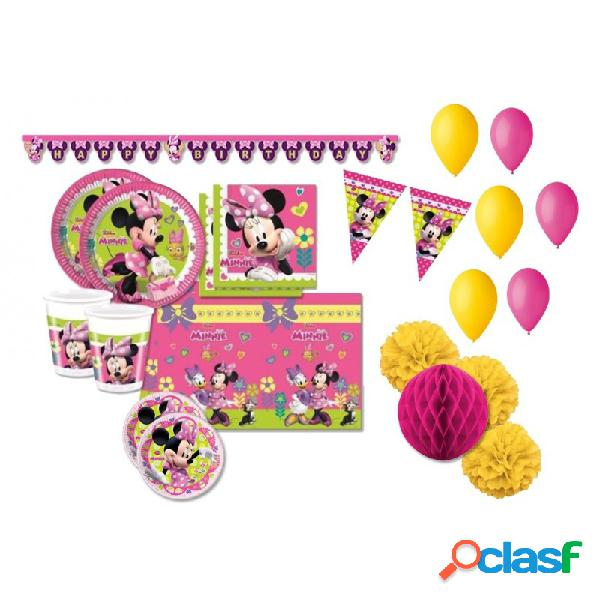 KIT N 52 -MINNIE MOUSE TOPOLINA COORDINATO COMPLEANNO