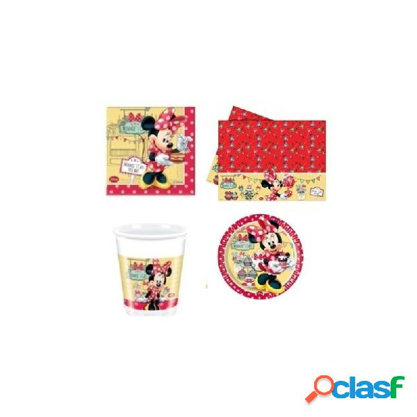 KIT N3 121 PZ COMPLEANNO BAMBINA MINNIE'S CAFE'