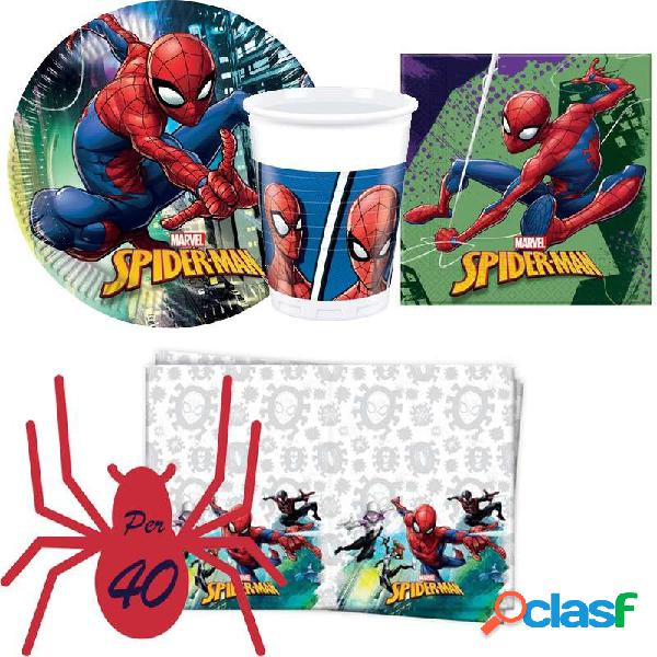 KIT N3 121 PZ COMPLEANNO BAMBINO SPIDERMAN