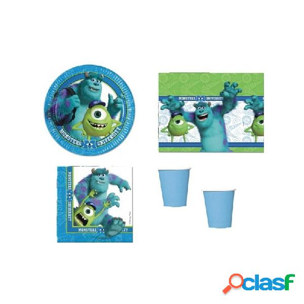 KIT N3 121 PZ. KIT COMPLEANNO MONSTERS UNIVERSITY