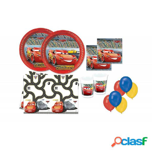 KIT N4 309 PZ ADDOBBI CARS + 100 PALLONCINI