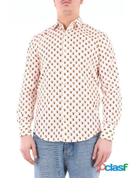 KOON koon camicia beige fantasia con maniche lunghe Camicie