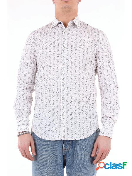 KOON koon camicia bianco fantasia con maniche lunghe Camicie