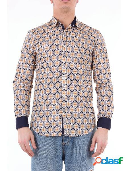 KOON koon camicia grigio fantasia con maniche lunghe Camicie
