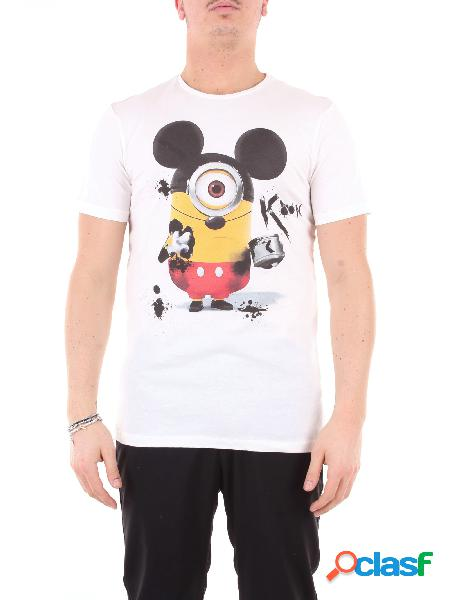 KOON koon t-shirt di colore bianco con stampa frontale