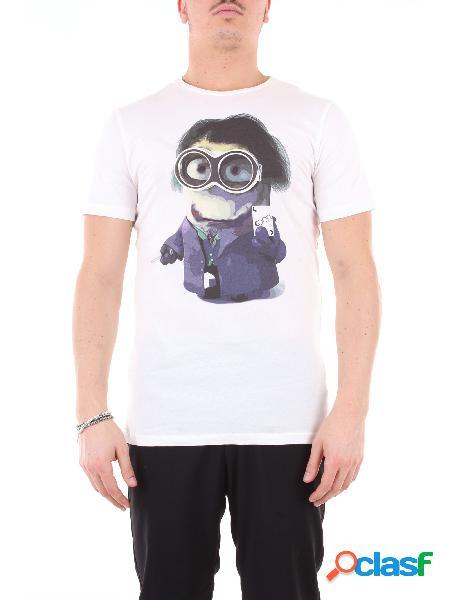 KOON koon t-shirt maniche corte di colore bianco con stampa