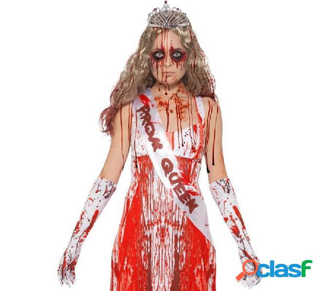 Kit da Regina del ballo insanguinata: banda, guanti e corona