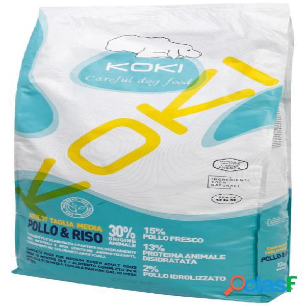 Koki cane adult medium / medio - pollo e riso 12 kg