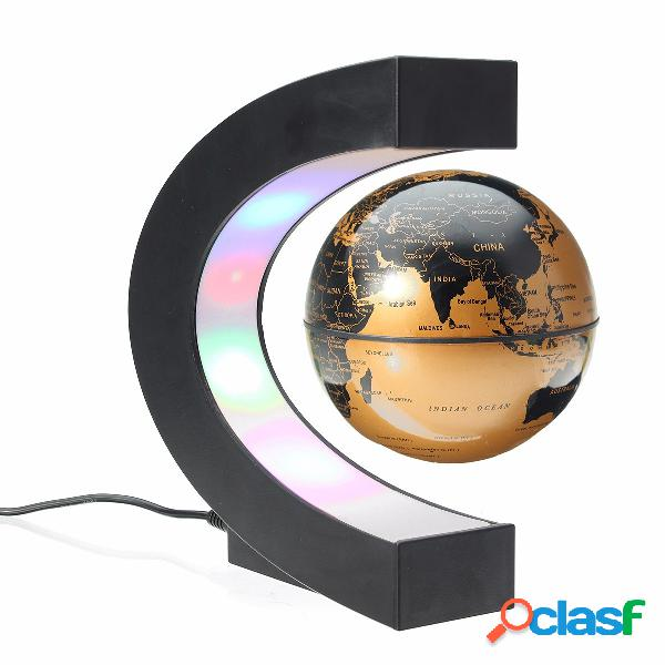 LED Globo Mappamondo a Leviatazione Magnetica a Forma C