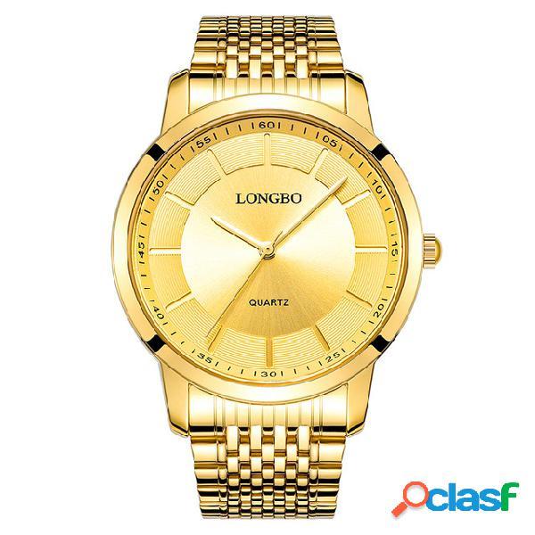 LONGBO Classic Casual Quartz Luxury Gold Watches Coppia