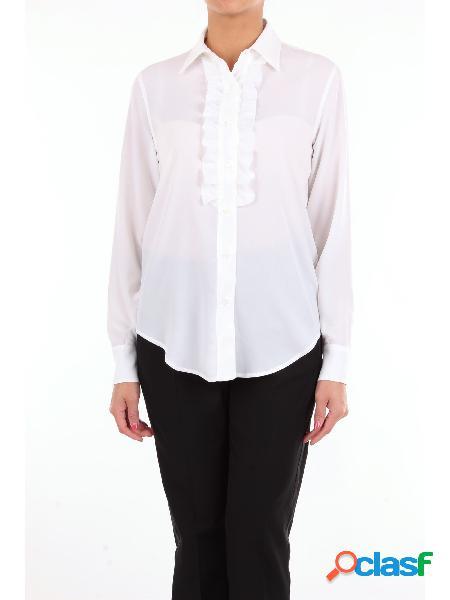 LORY Lory camicia classica di colore bianco con maniche