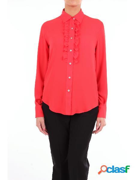 LORY Lory camicia classica di colore rosso con maniche