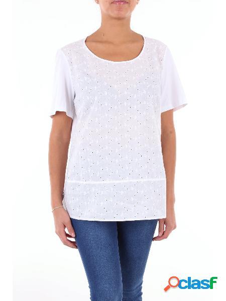 LUISA VIOLA Luisa Viola t-shirt di colore bianco con maniche