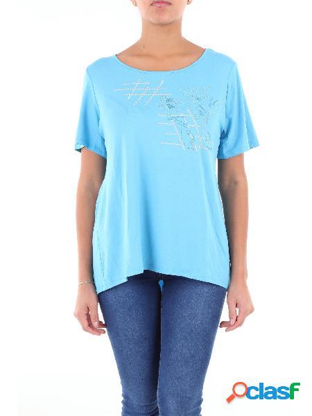 LUISA VIOLA Luisa Viola t-shirt maniche corte color azzurro