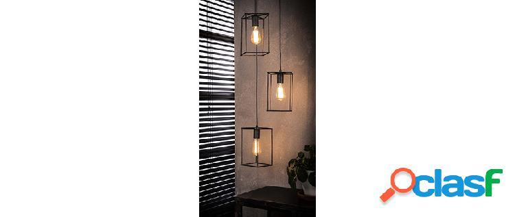 Lampada da soffitto design 3 lampadine in metallo finizione