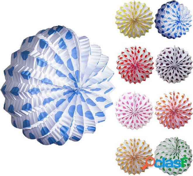 Lanterna bianca con piccoli pois in vari colori