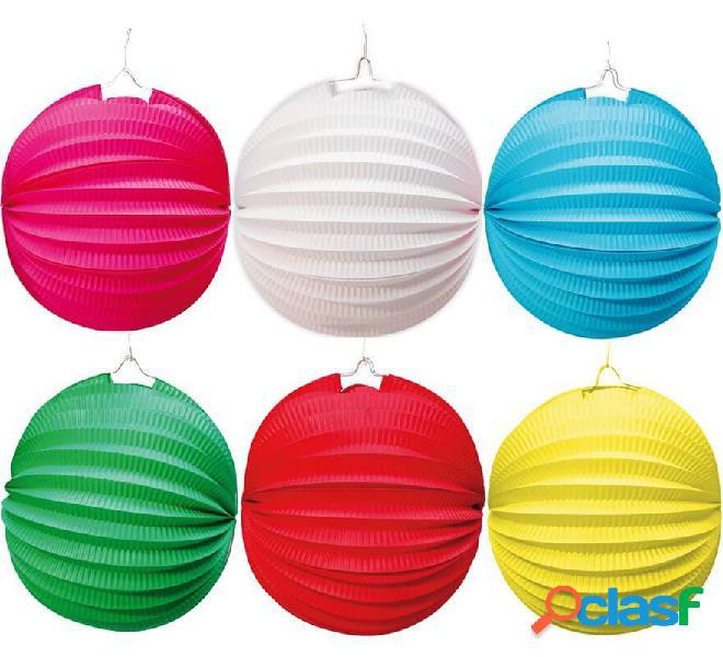 Lanterna sferica in carta da 26 cm in vari colori
