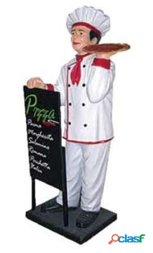 Lavagnetta con pizzaiolo in vetroresina - Altezza 140 cm