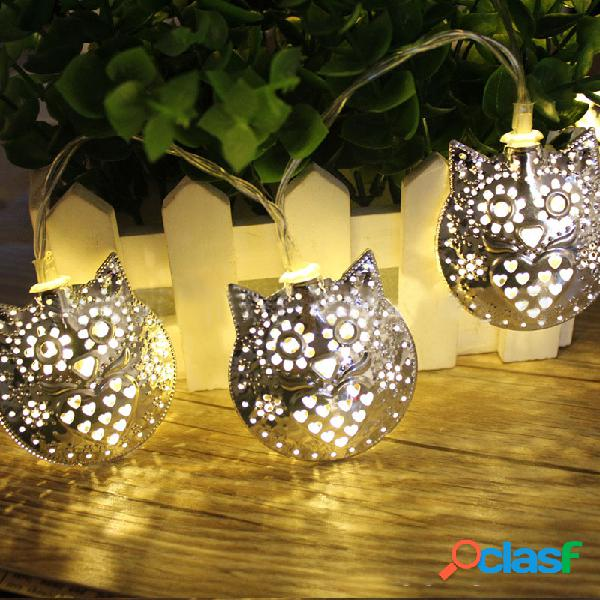 Le luci leggiade del LED di KCASA 1.8M 10 LED del metallo