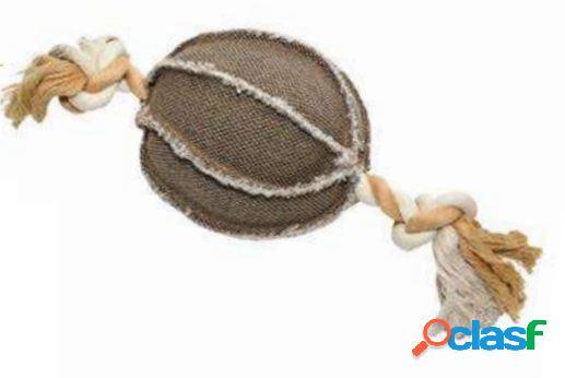 Leopet gioco per cani palla con corda in canvas 22 x 13 x 13