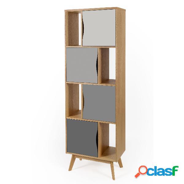 Libreria Stretta Avon Standard in legno ingegnerizzato e