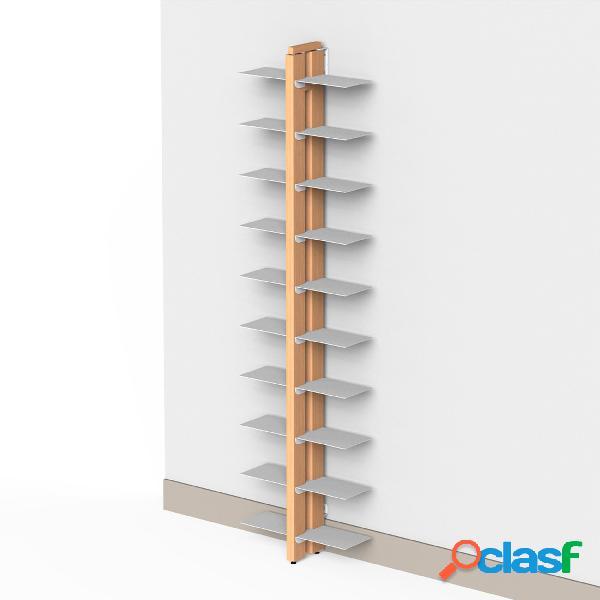 Libreria verticale DOPPIA Fissaggio a parete ZIA BICE