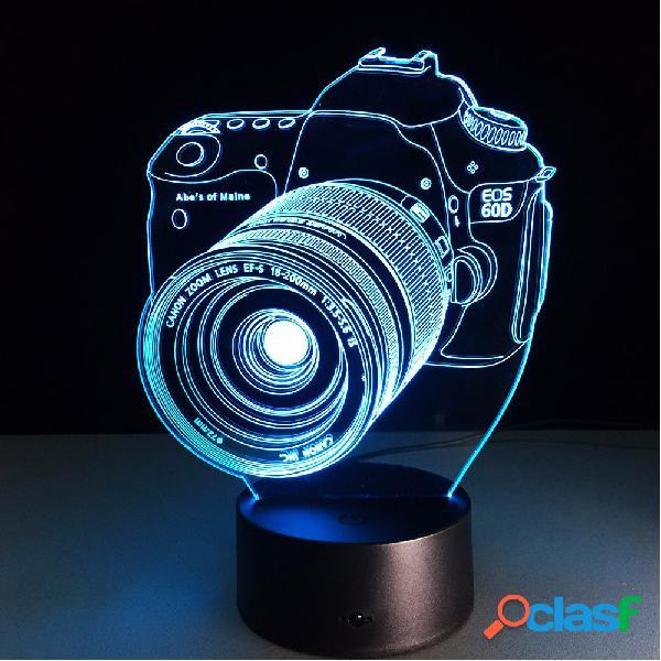 Loskii DL-3D7 Lampada LED Colorata a 3D Fotocamera a Toccare