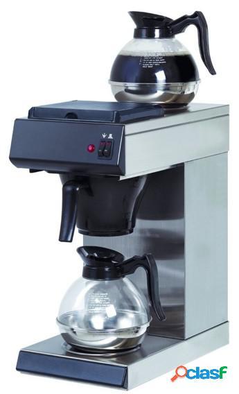 Macchina per caffè in acciaio inox con capacità 1,6 litri