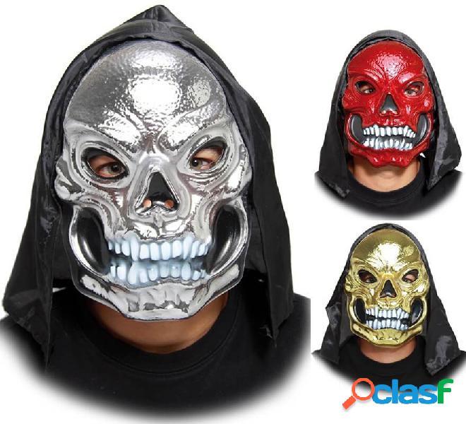Maschera da teschio con cappuccio in vari colori