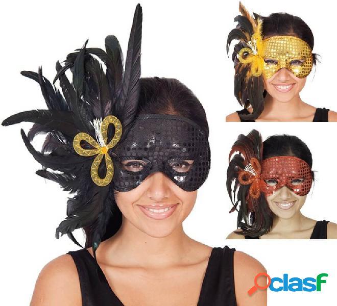 Maschera di pavone in vari colori