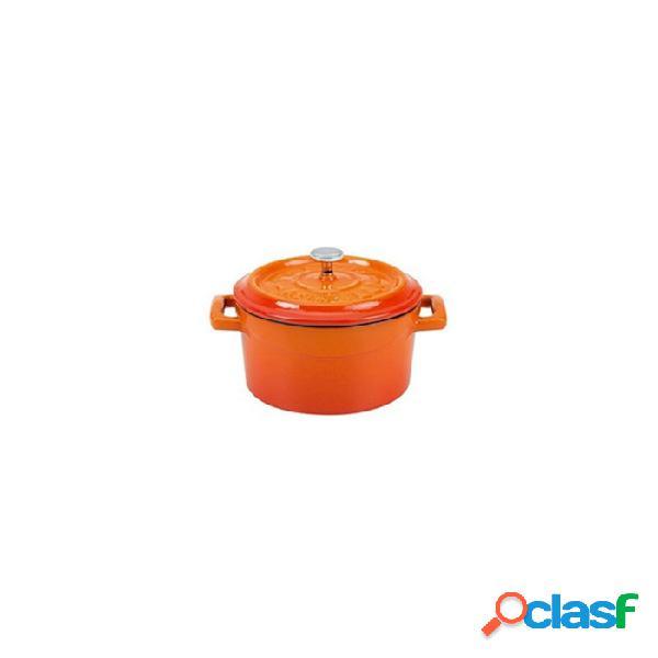 Mini Casseruola Slowcook Con Coperchio In Ghisa Arancione Cm