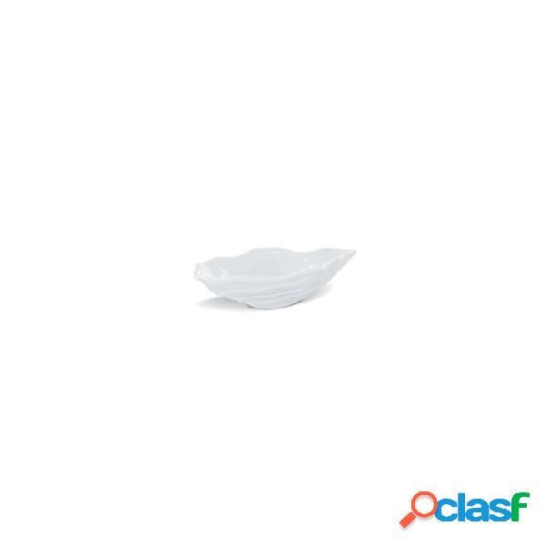 Mini Ostrica Miniature In Porcellana Bianca Cm 12X7 - Bianco