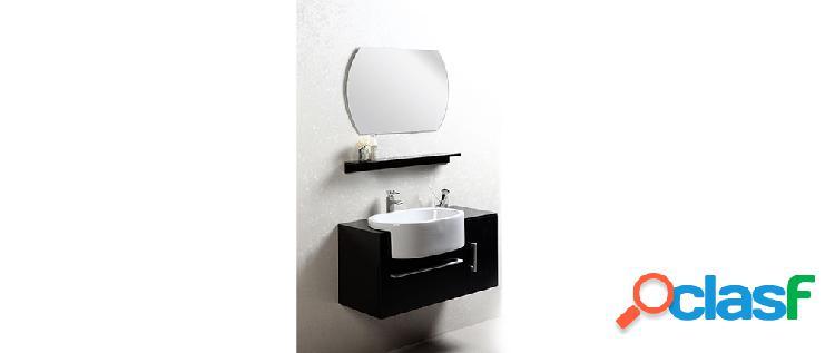 Mobile da bagno Sullivan nero: lavabo mobile sottovasca