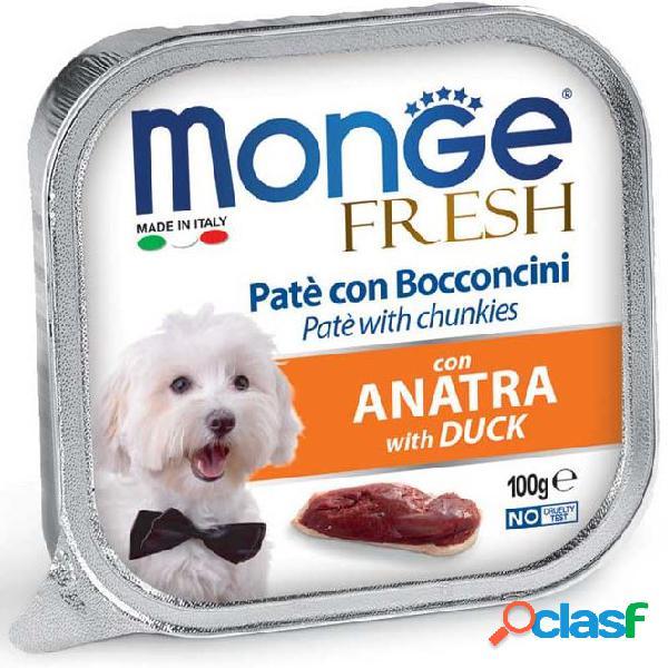 Monge fresh cane gr 100 paté e bocconcini con anatra