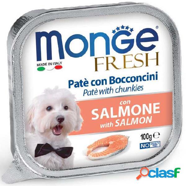 Monge fresh cane gr 100 paté e bocconcini con salmone