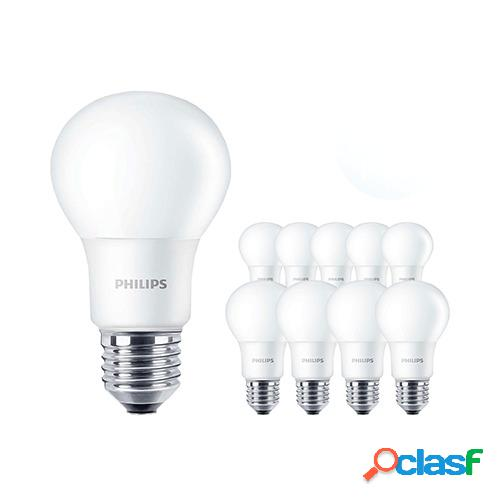 Multipack 10x Philips CorePro LED bulb 7.5-60W A60 E27 830